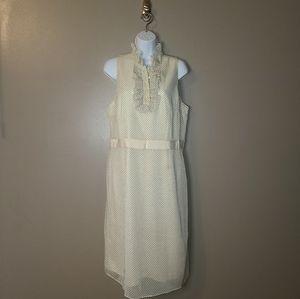 🌻2/$20 Isaac Mizrahi polka dot dress, size 14